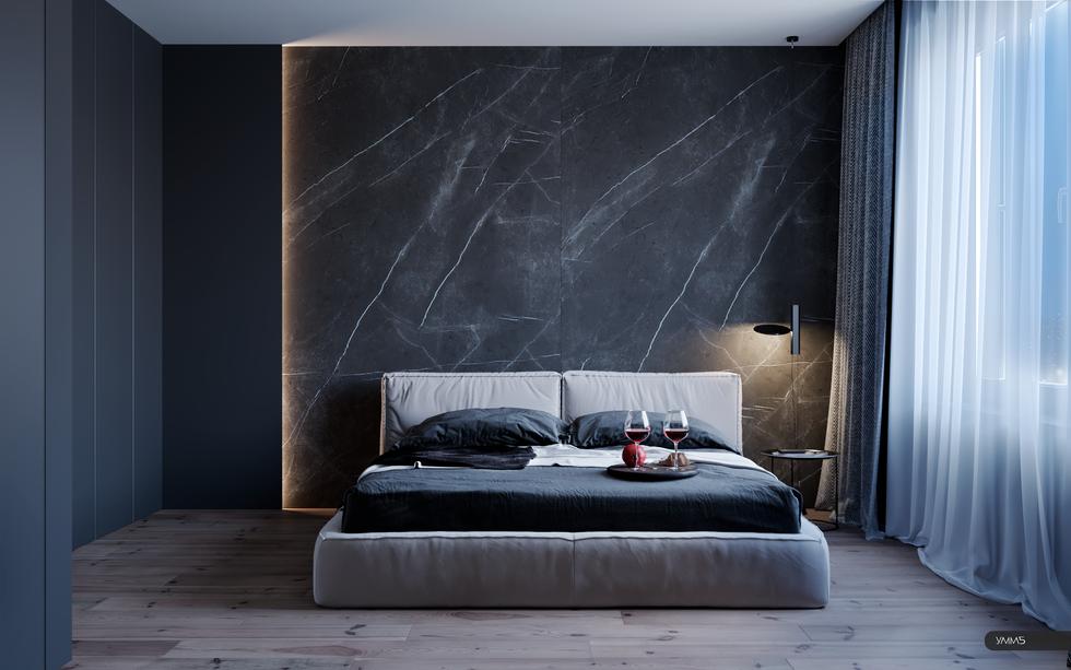 Спальня, современный дизайн, современный интерьер, дизайн интерьера, дизайн интерьера калининград, дизайн спальни, интерьер спальни, умм5