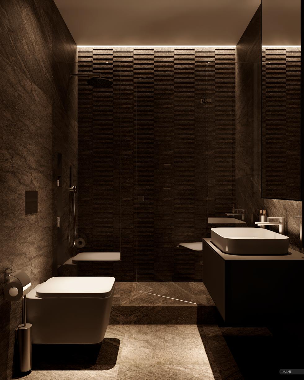 Ванная комната, санузел, современный дизайн, современный интерьер, дизайн интерьера, дизайн интерьера калининград, дизайн санузла, интерьер ванной комнаты, умм5