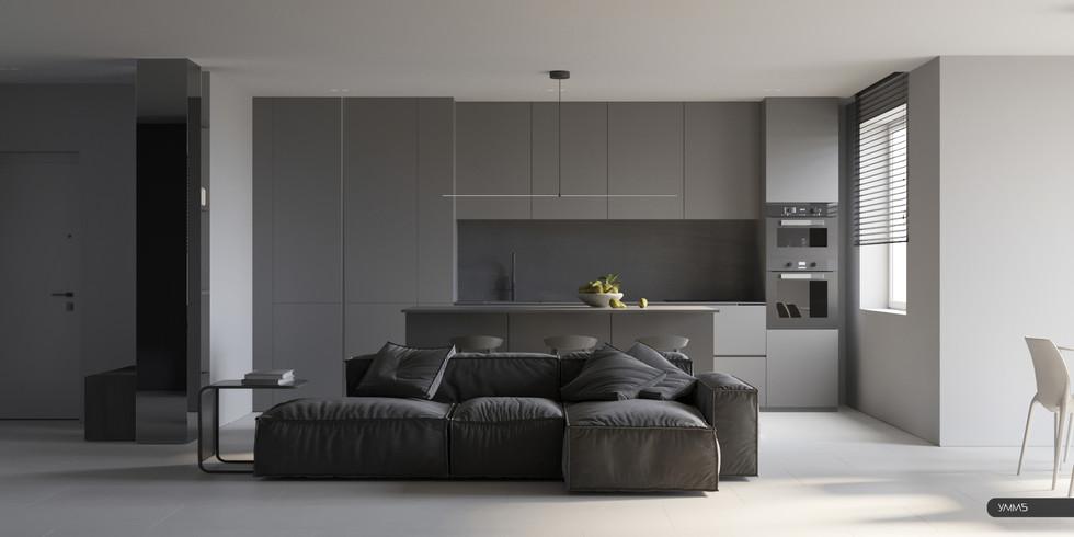 Дизайн интерьера гостиной, зала Студия дизайна и архитектуры УММ5