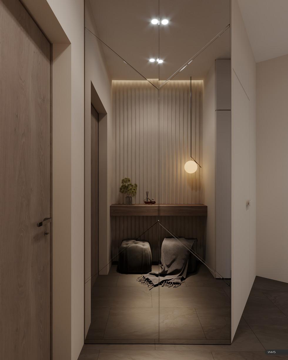 современный дизайн, современный интерьер, современная прихожая, гостинная дизайн, дерево в интерьере, модерн, модерн элеганс