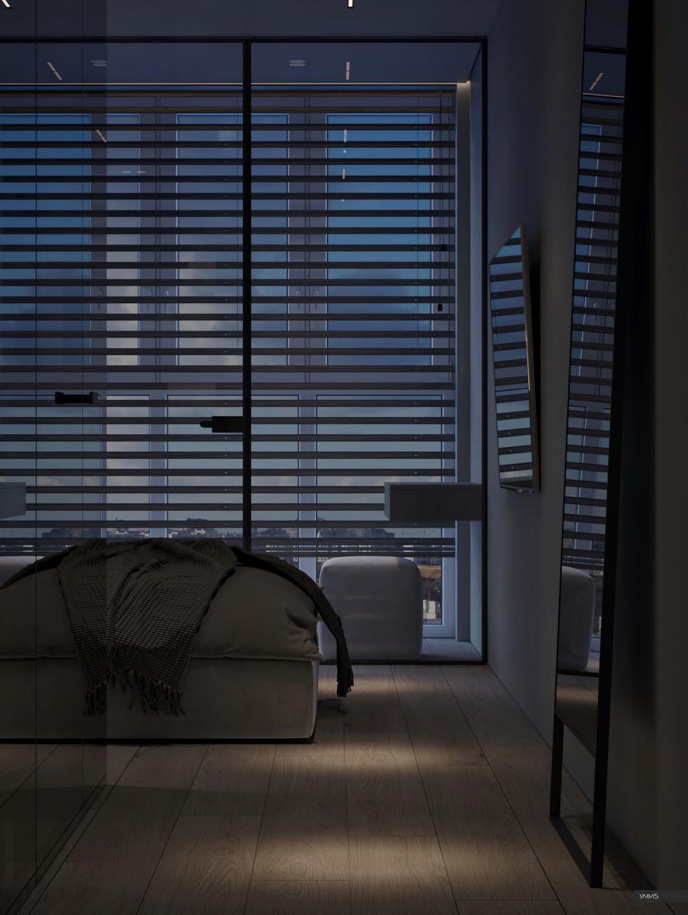 Дизайн интерьера кабинета на балконе Студия дизайна и архитектуры УММ5