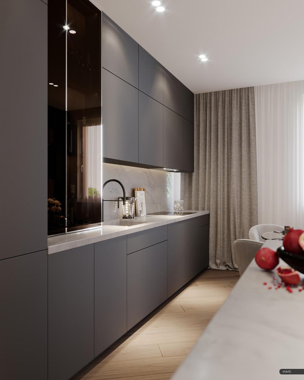 современный дизайн, современный интерьер, современная гостинная, гостинная дизайн, дерево в интерьере, модерн, модерн элеганс, дизайн кухни, барная стойка