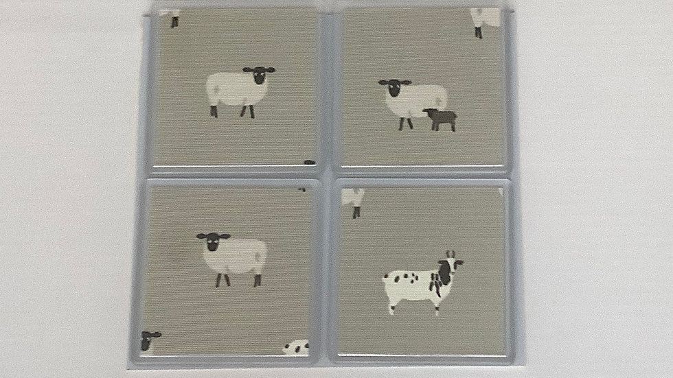 Coasters - Sheep /Daschunds/Runner Ducks/Toadstools