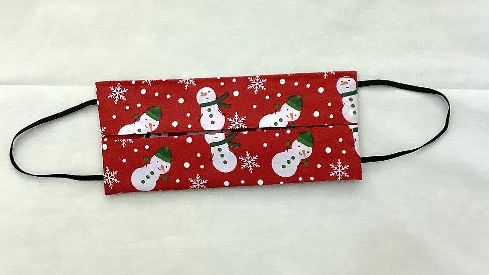 Adult face mask Christmas edition Snowman