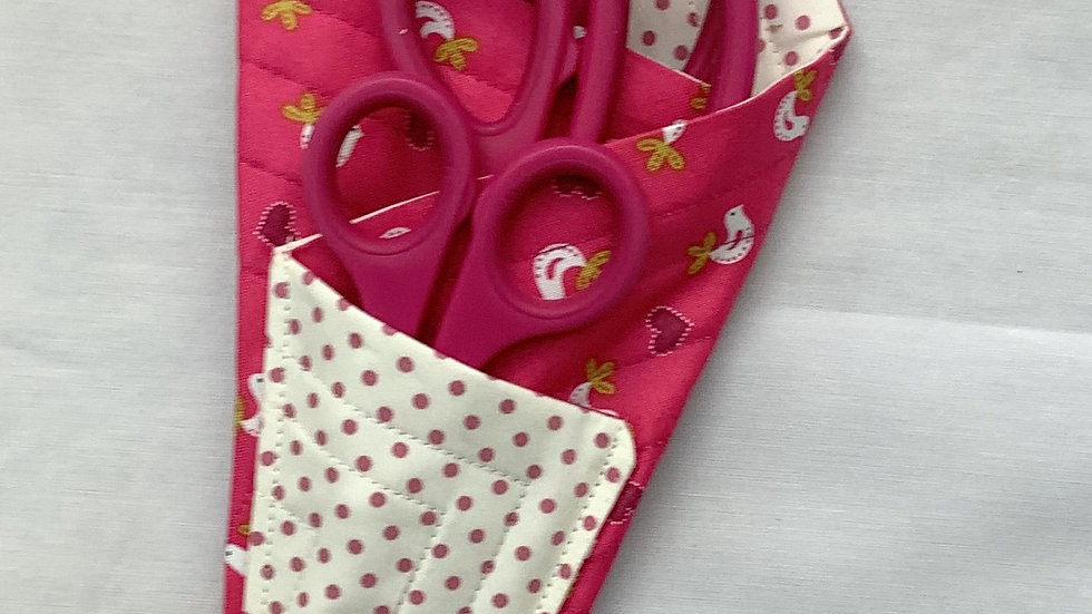 Scissors Holder/Case - Bright Pink