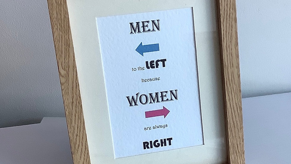Men to the left!