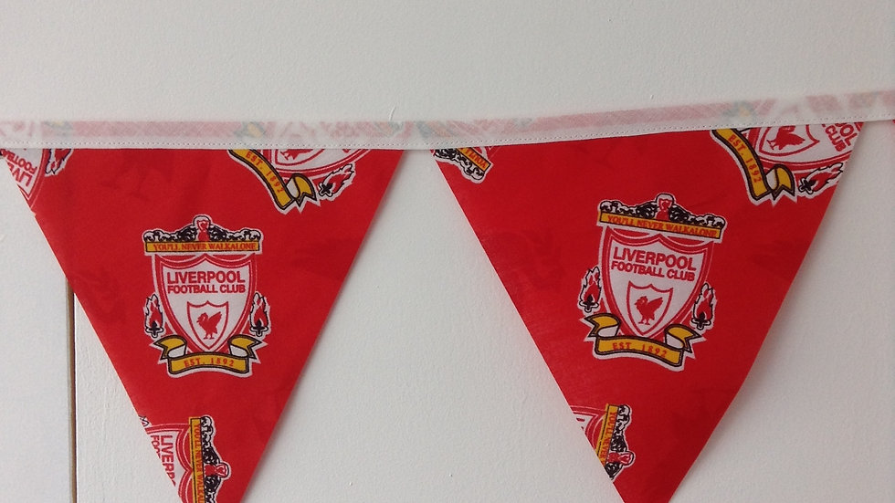 Liverpool F C Supporters Bunting Handmade