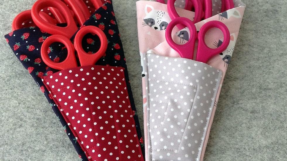 Scissors Holder/Case - Red & Pink