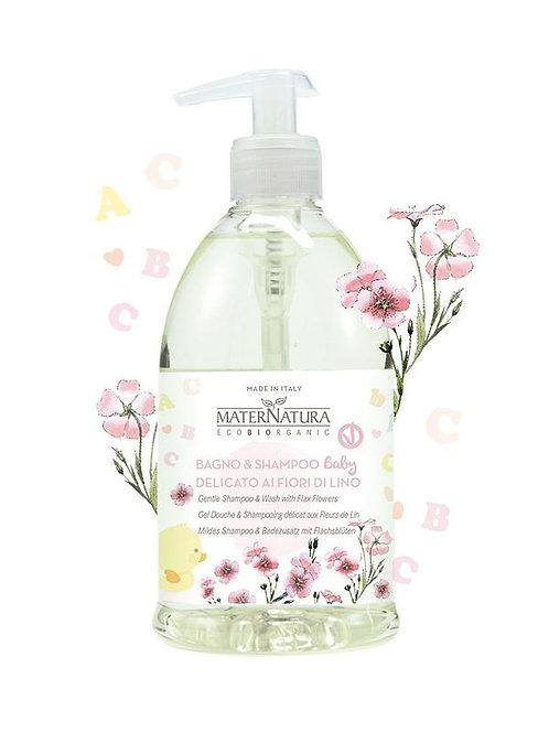 Bagno & Shampoo Baby delicato ai fiori di lino - Maternatura