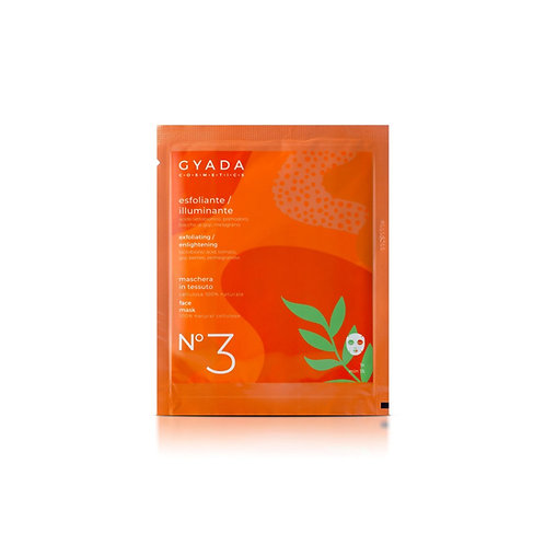 Maschera in Tessuto n.3 - Esfoliante / Illuminante - Gyada Cosmetics