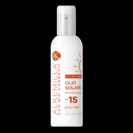 Olio solare spray protezione corpo SPF 15 - Alkemilla
