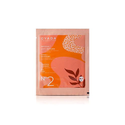 Maschera in Tessuto n.2 - Lenitiva / Pelli Delicate - Gyada Cosmetics