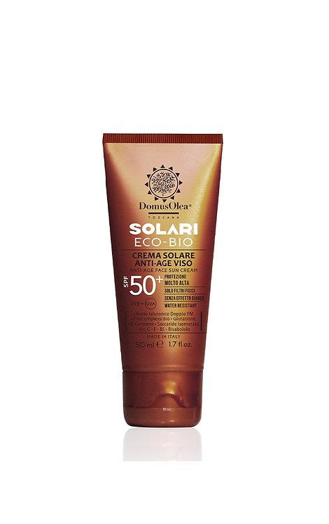 Crema solare anti-age viso SPF 50+ - Domus Olea Toscana