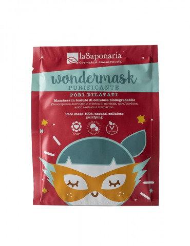 Wondermask - maschera in tessuto purificante  - La Saponaria