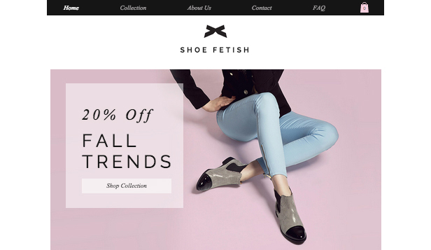 Online Store website templates – Women's Shoes