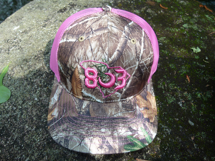 Pink Real Tree Edge Trucker