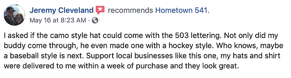 Hometown 541 Review A.1 channel = Facebo