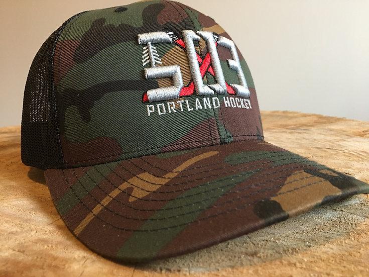 503 Hockey Camo Snapback Hat