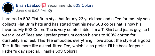 503 Review Source = Facebook