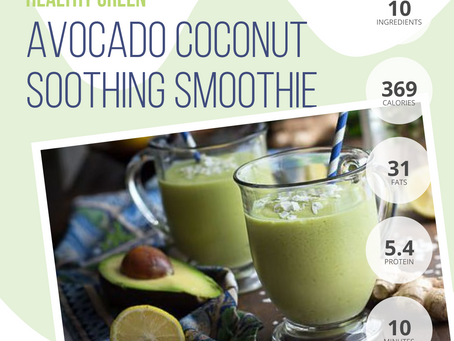 Avocado Coconut Soothing Smoothie