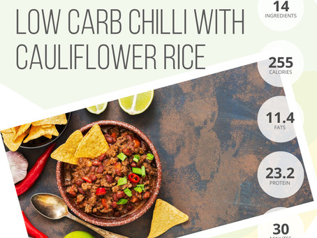 Low Carb Chilli with Cauliflower Rice