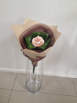 Single Rose Bacon Bouquet