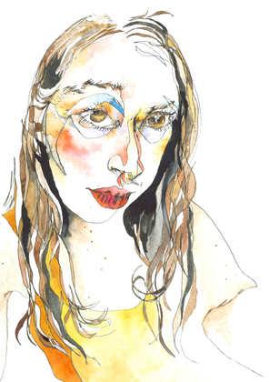 Blind drawing - Self portrait