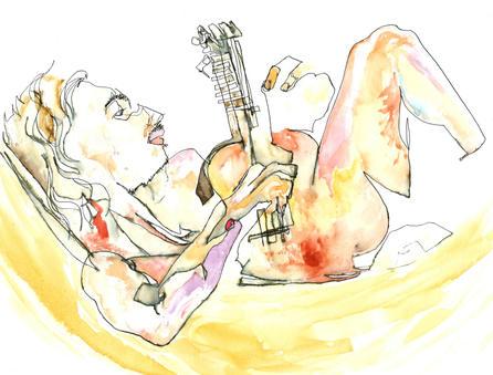 Tom y su guitarra