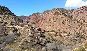 Berber villages in Ijoukak regio