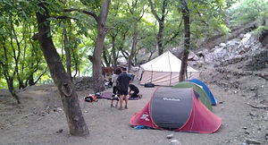 Camping near Tizi Oussem