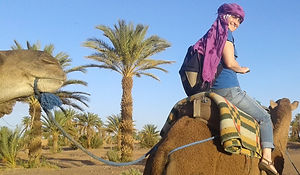 Adrienn on her camel
