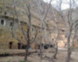 Berber village in High Atlas mountain village