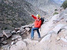 One day trek from Imlil up the Toubkal Trail to Sidi Chamharouch
