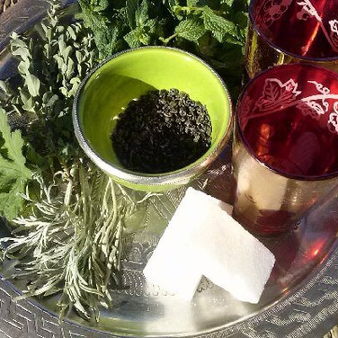 Moroccan tea and herbs