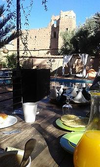 breakfast time at Dar Qamar in Agdz