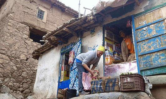 Karima shopping in a remote village