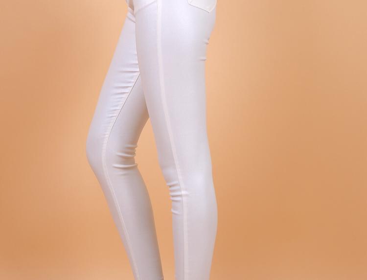 Leatherlook White Jeans