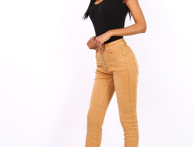 Jeans 5 Buttons Camel