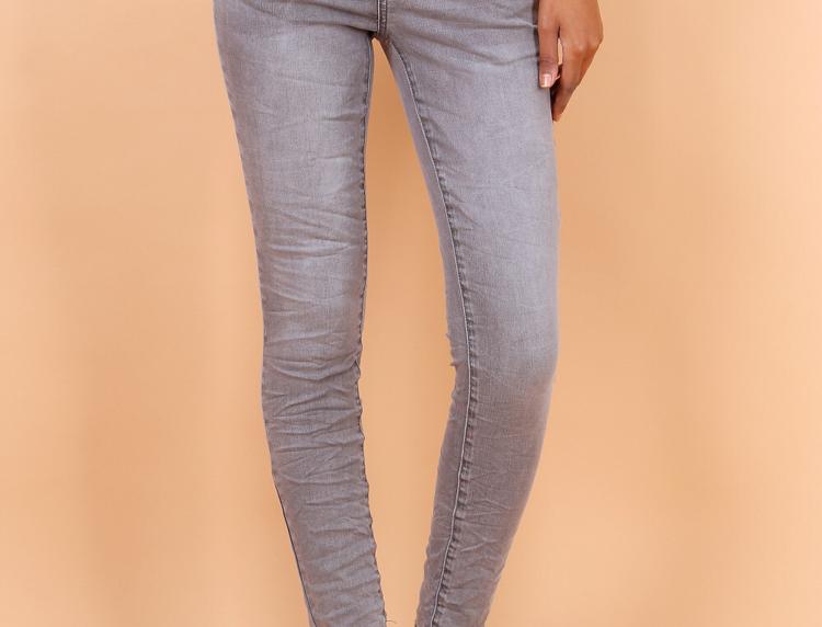 Jeans High Waist Grey