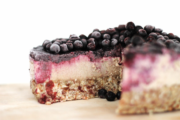 Vegan Blueberry Cheesecake TWO SPOONS Healthy Easy