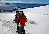 Nuluymina founders in Antarctica