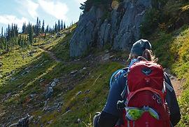 Founder of N ulumina hiking near Mt Rainier