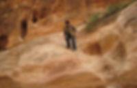Founder of Nulumina hiking in Jordan near Petra