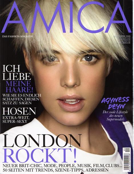 Amica Allemagne / Agyness Deyn - Septembre 2008