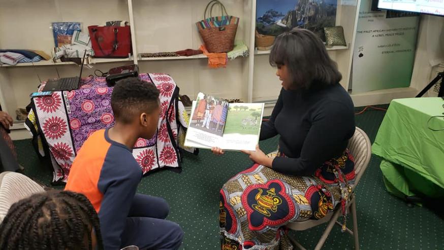 "Reading of ""Cupcake and Noodles Go To Kenya"" at the Kenya Embassy in Washington, DC."