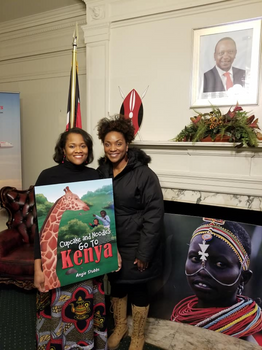 "Reading of ""Cupcake and Noodles Go To Kenya"" at the Kenya Embassy in Washington, DC."