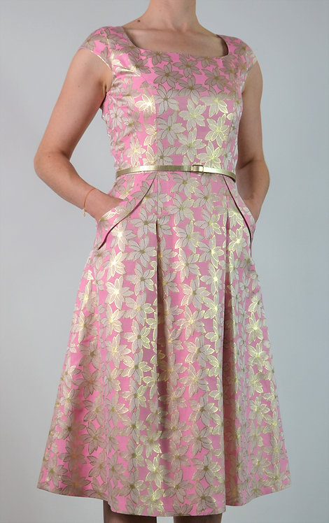 Baroque Dress - Pink and Gold