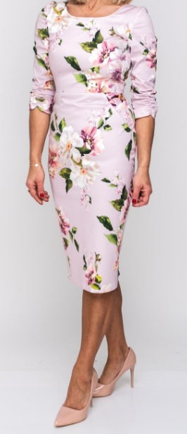 Rubens Dress - Pink Floral 1905