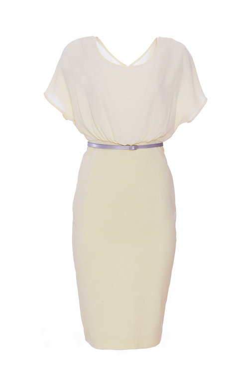 Camelia Dress 8926 - Lemon