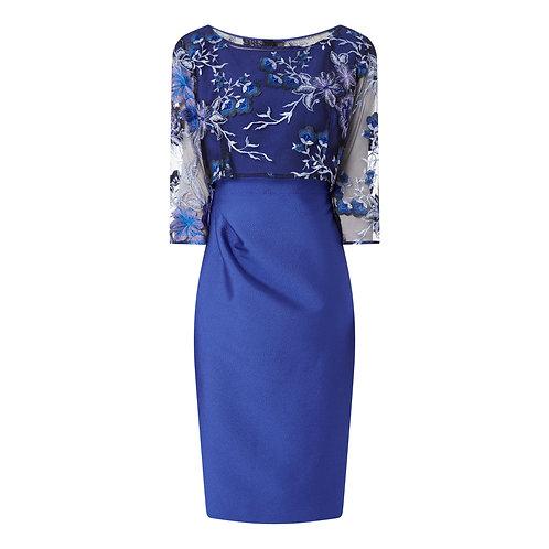 Latur Dress Blue with Lace